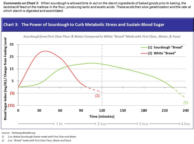 Chart 3 - Power of Sourdough to Cub Metabolic Stress